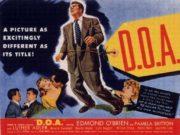 D.O.A. film noir postcard