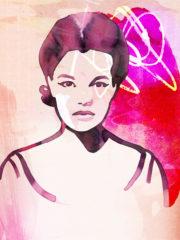 Romy Schneider portrait by Marianna Gefen